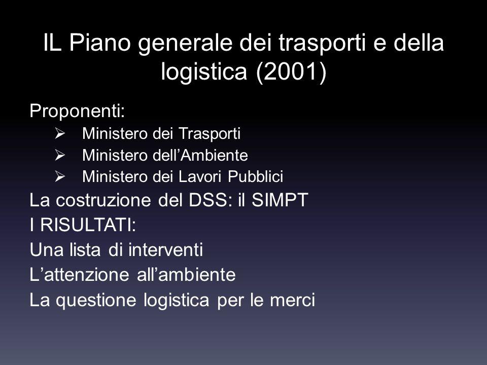 IL Piano generale dei trasporti e della logistica (2001)
