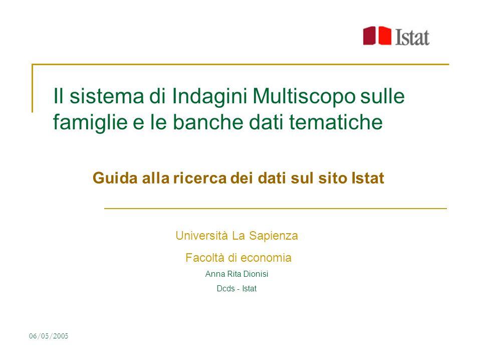 Guida alla ricerca dei dati sul sito Istat