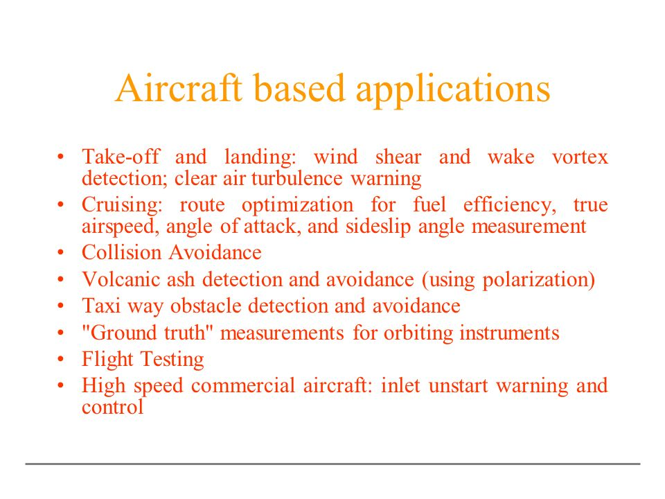 Aircraft based applications