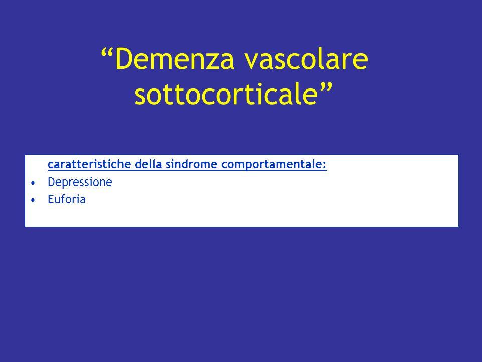 Demenza vascolare sottocorticale