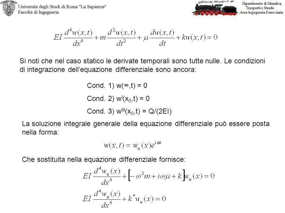 Si noti che nel caso statico le derivate temporali sono tutte nulle