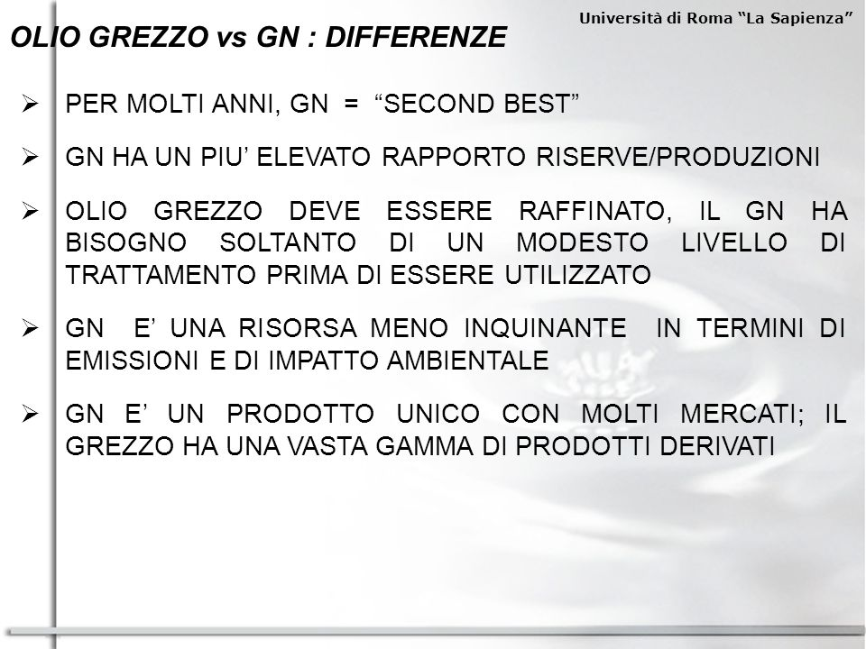 OLIO GREZZO vs GN : DIFFERENZE