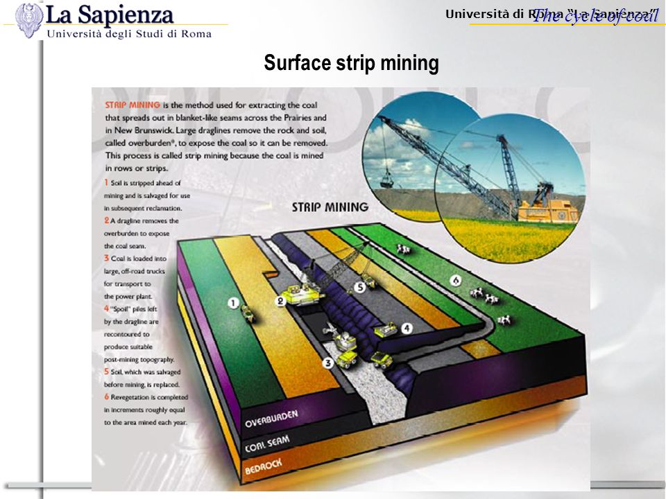 The cycle of coal Surface strip mining