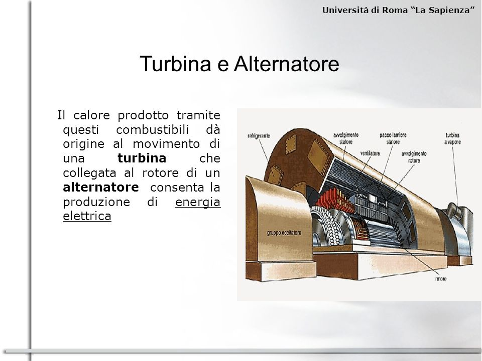 Turbina e Alternatore
