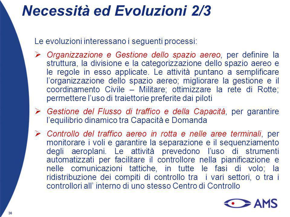 Necessità ed Evoluzioni 2/3