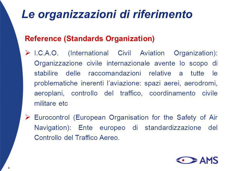 Le organizzazioni di riferimento