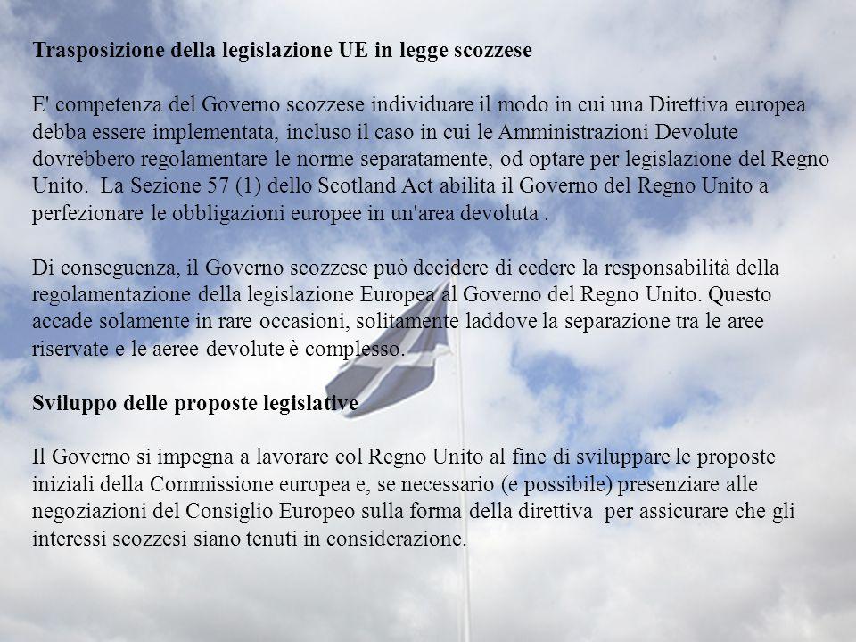 Trasposizione della legislazione UE in legge scozzese