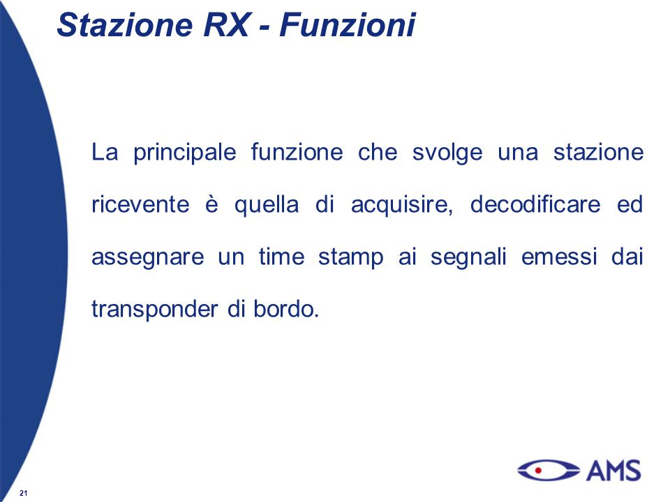 Stazione RX - Funzioni