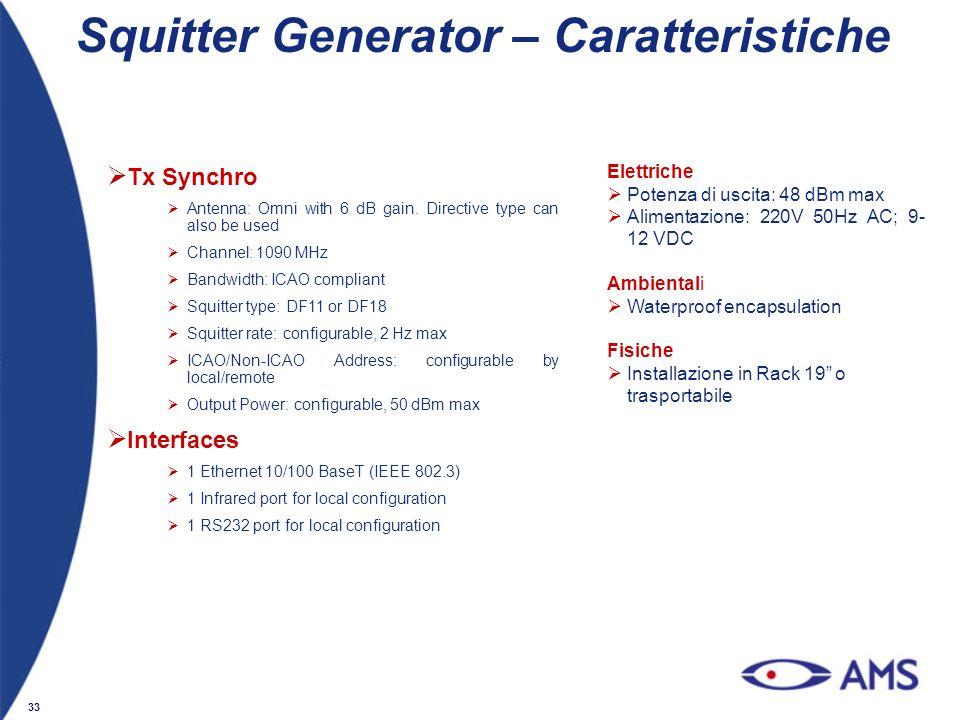 Squitter Generator – Caratteristiche