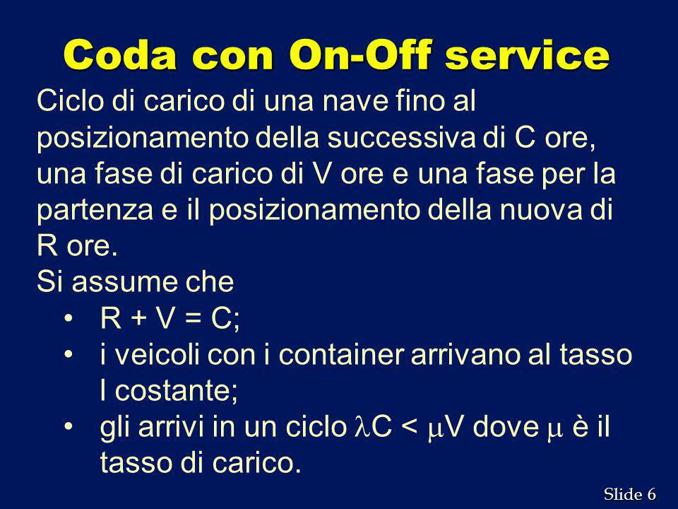 Coda con On-Off service