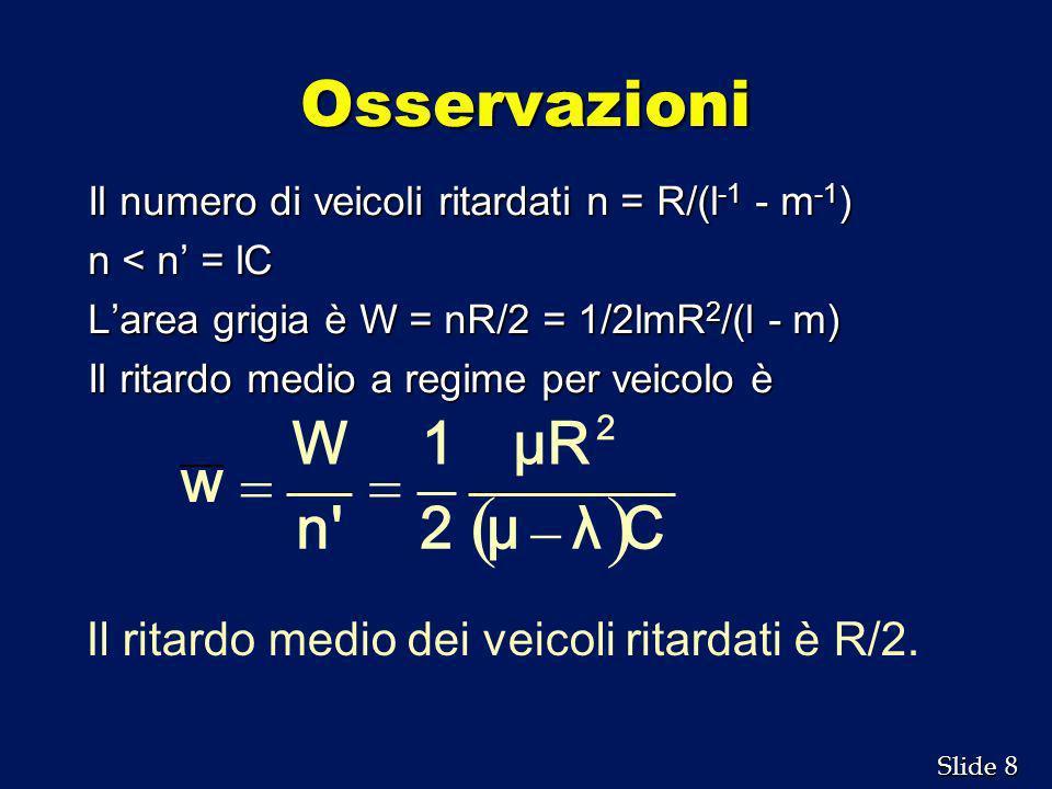 ( ) Osservazioni C λ μ μR 2 1 n W w - =