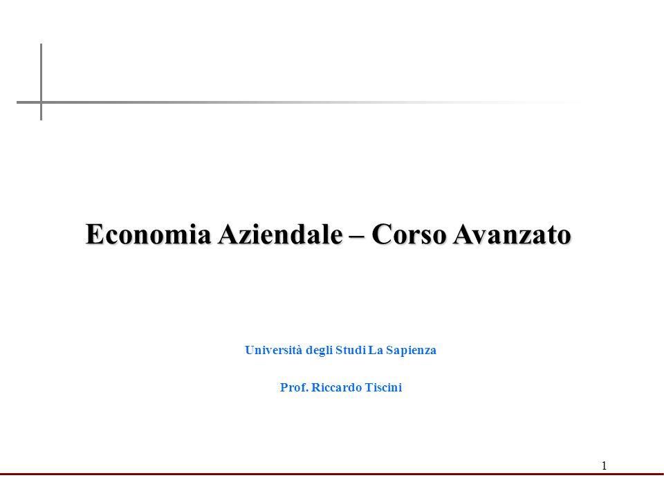 Economia Aziendale – Corso Avanzato Università degli Studi La Sapienza