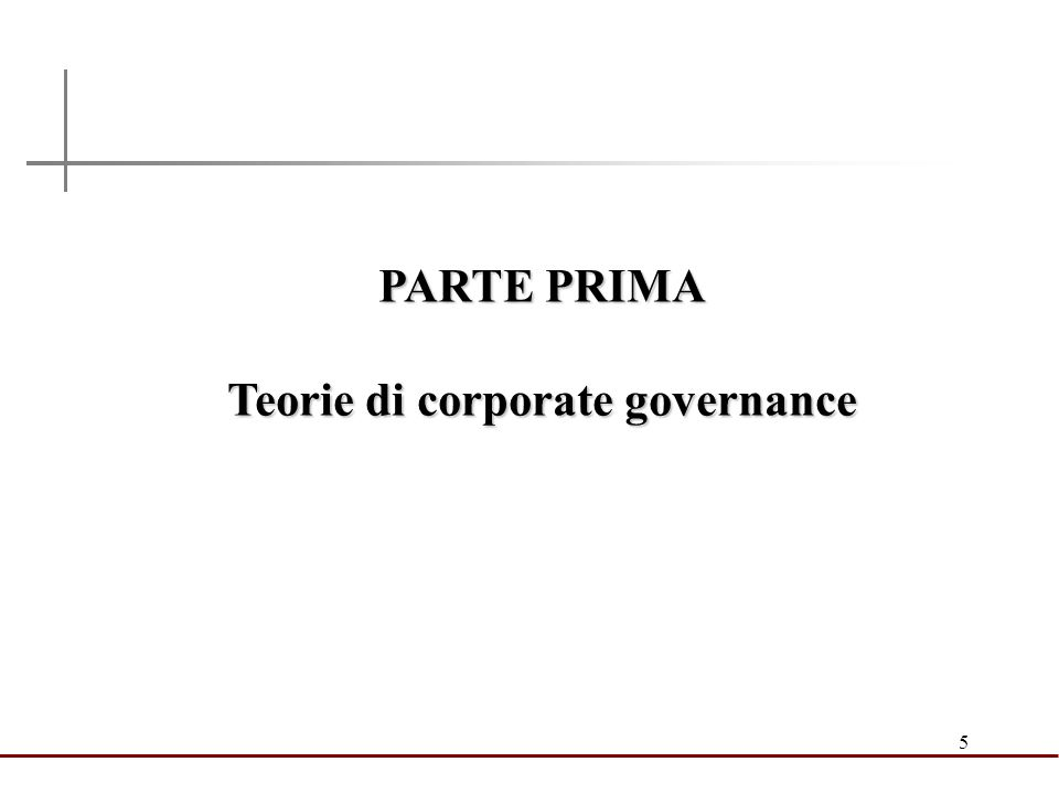 Teorie di corporate governance