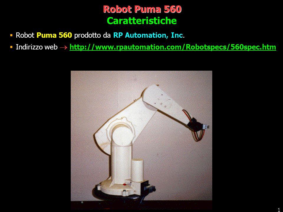 Robot Puma 560 Caratteristiche