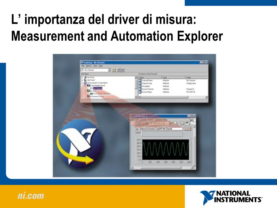 L' importanza del driver di misura: Measurement and Automation Explorer