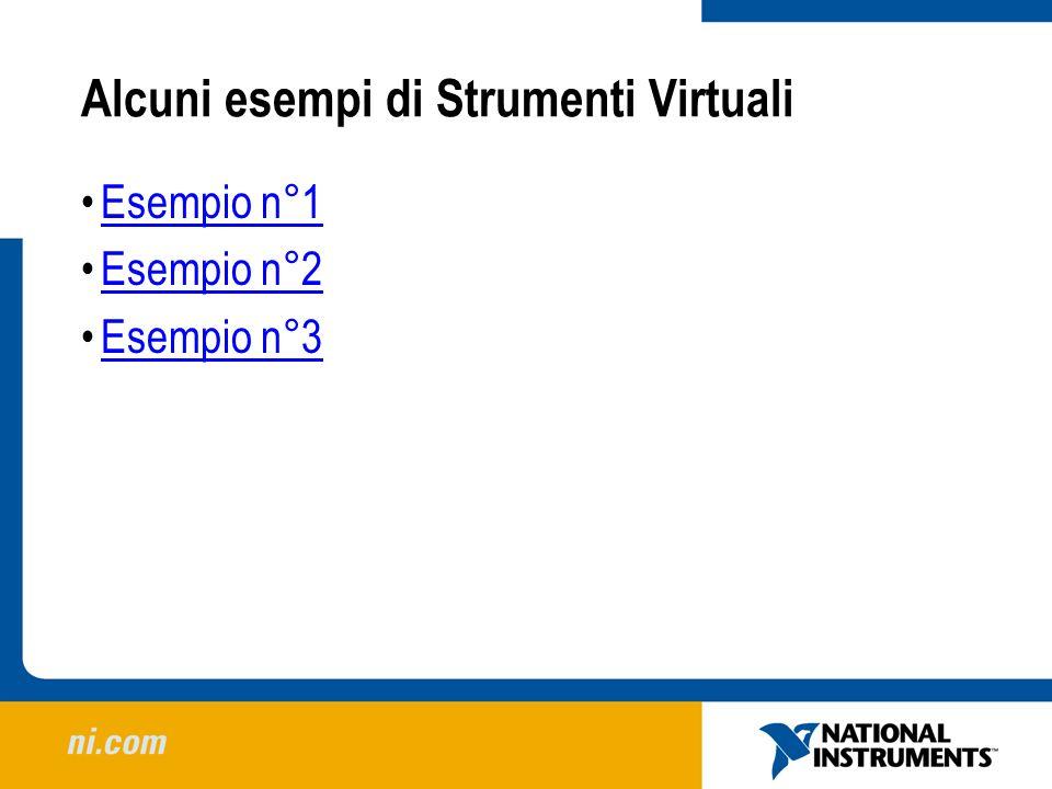 Alcuni esempi di Strumenti Virtuali