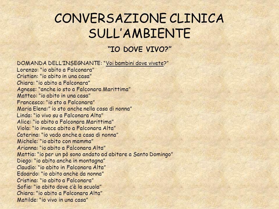 CONVERSAZIONE CLINICA SULL'AMBIENTE