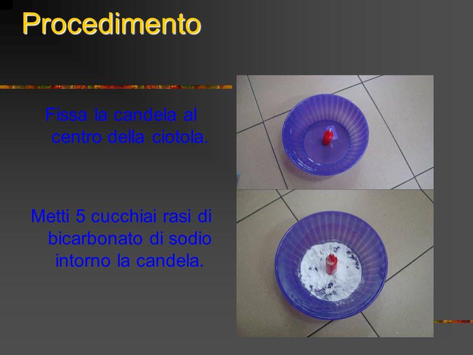 Procedimento Fissa la candela al centro della ciotola.
