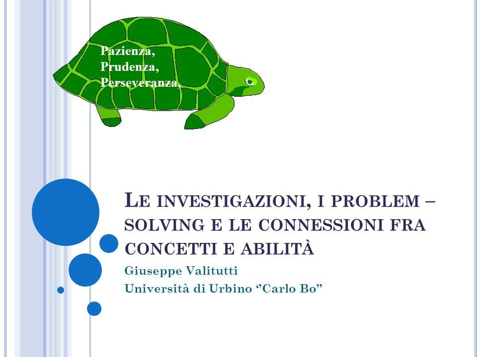 Giuseppe Valitutti Università di Urbino ''Carlo Bo''