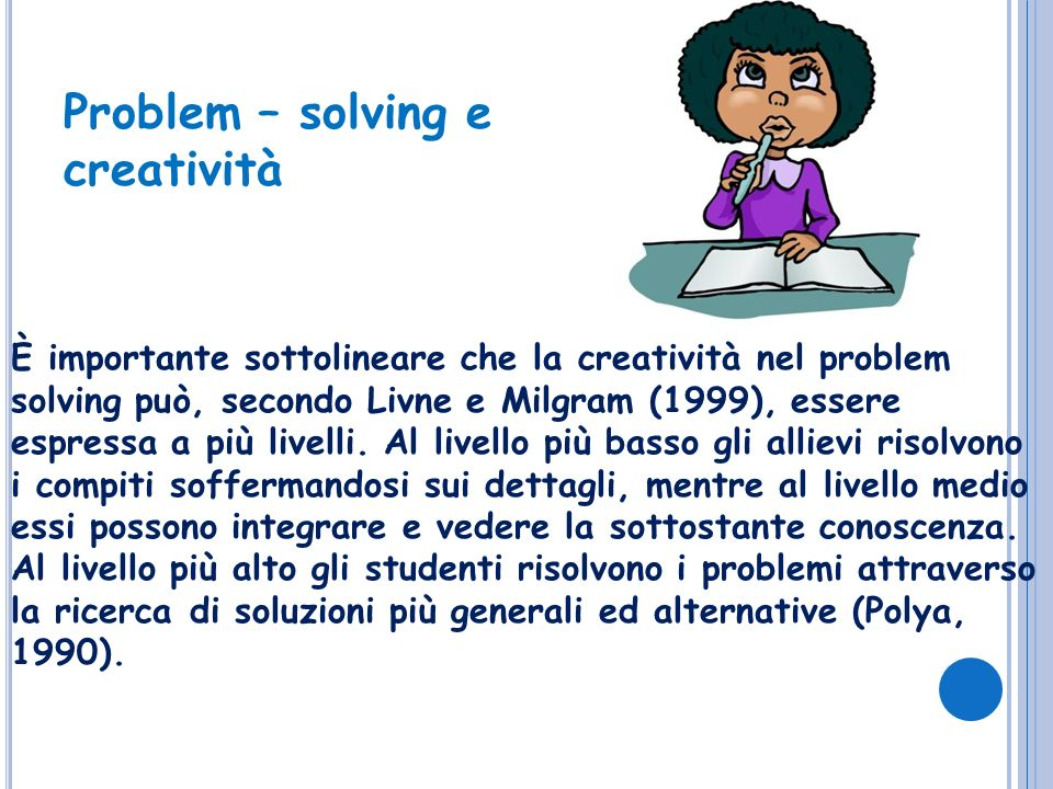 Problem – solving e creatività