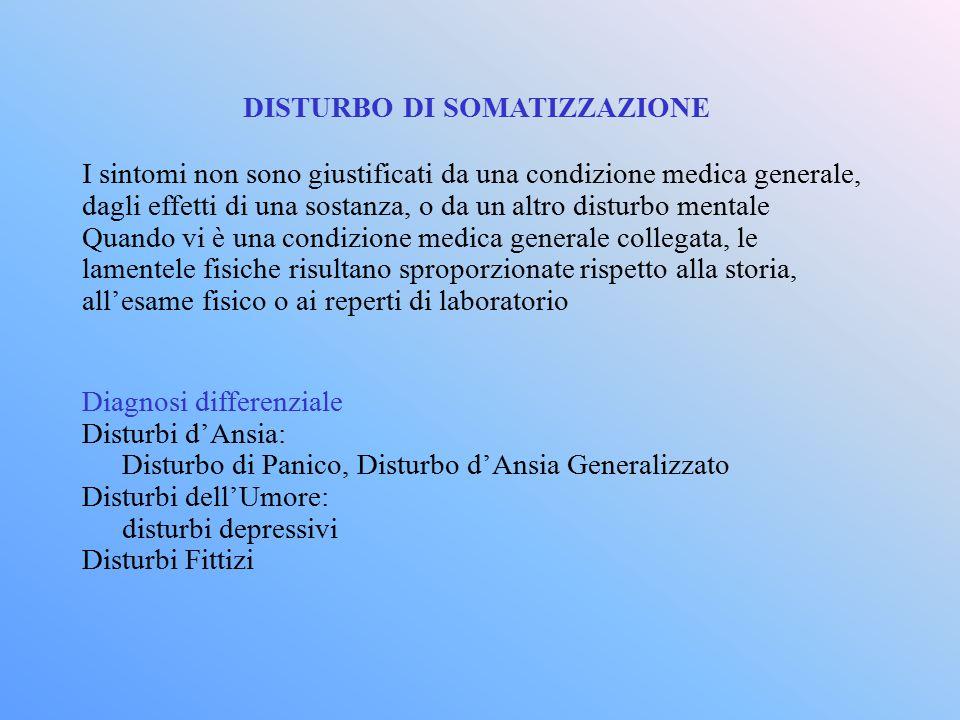 DISTURBO DI SOMATIZZAZIONE