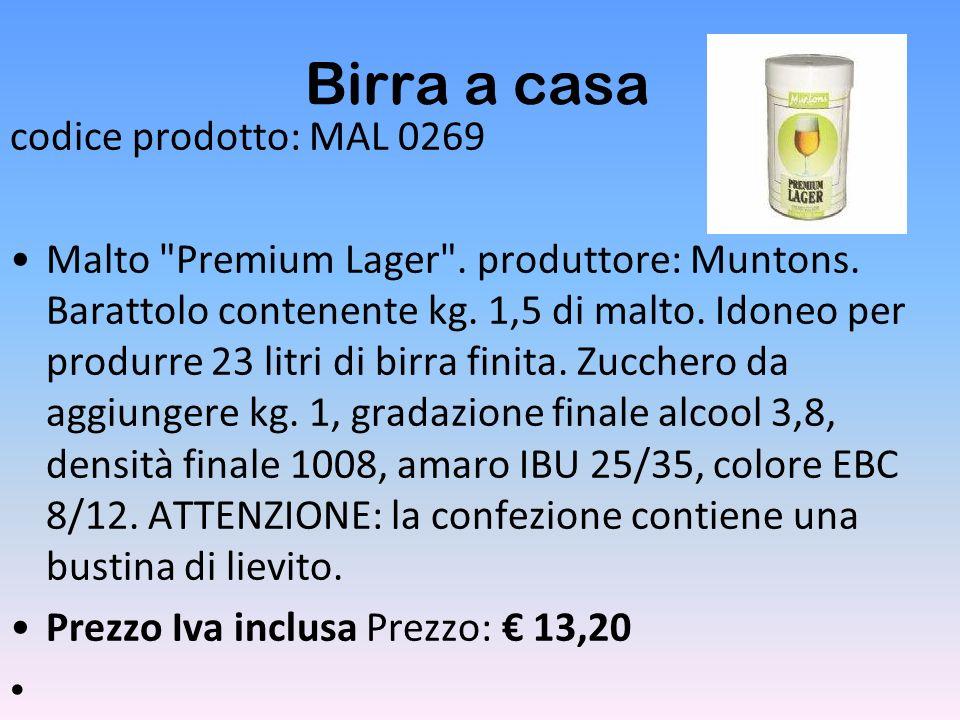 Birra a casa codice prodotto: MAL 0269