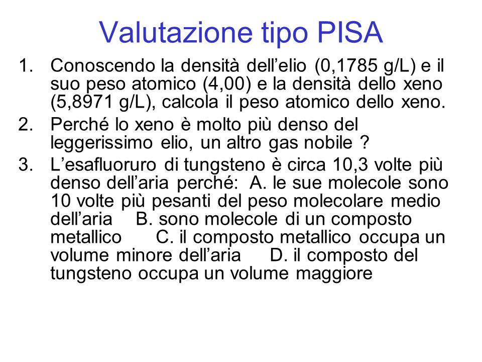 Valutazione tipo PISA