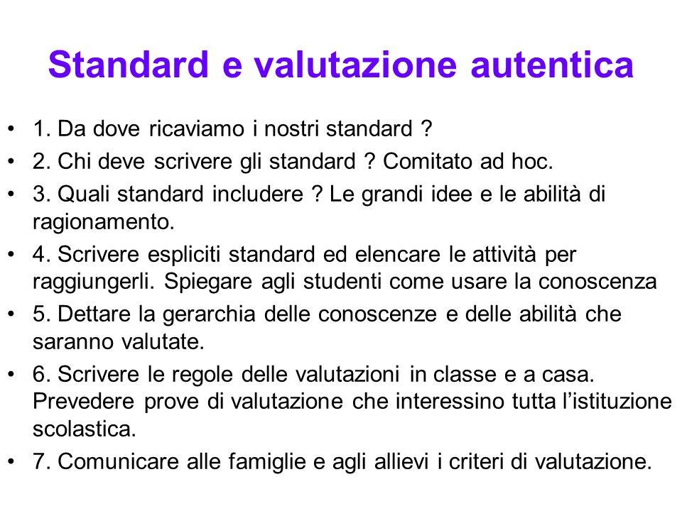 Standard e valutazione autentica