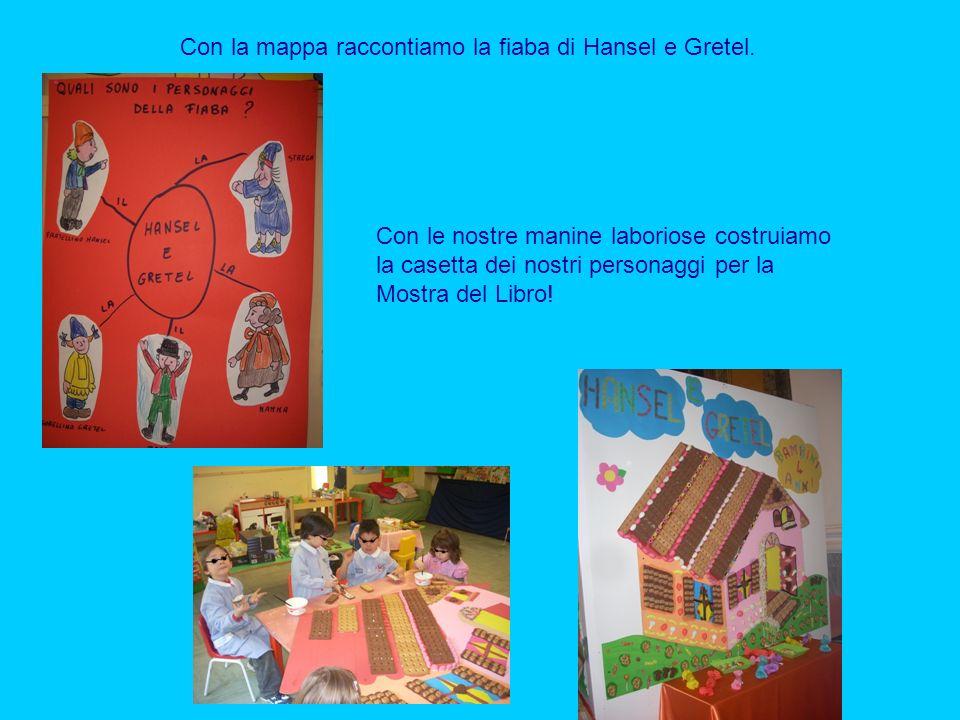 Con la mappa raccontiamo la fiaba di Hansel e Gretel.