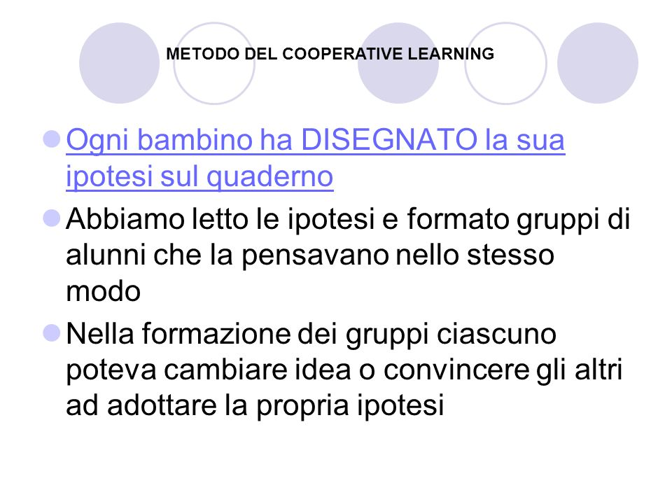 METODO DEL COOPERATIVE LEARNING