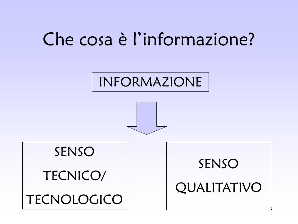 Che cosa è l'informazione