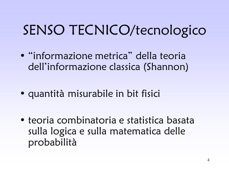 SENSO TECNICO/tecnologico