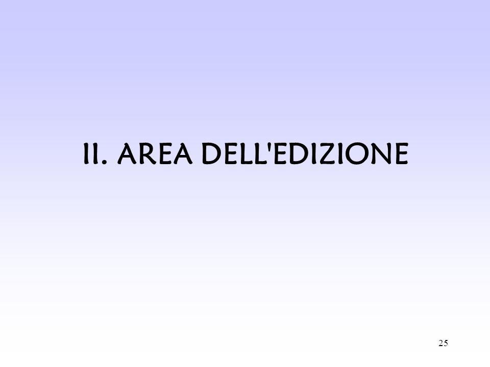 II. AREA DELL EDIZIONE