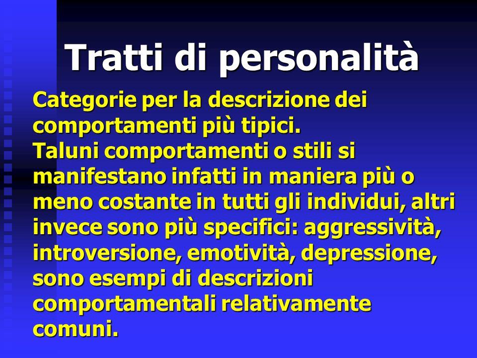 Tratti di personalità
