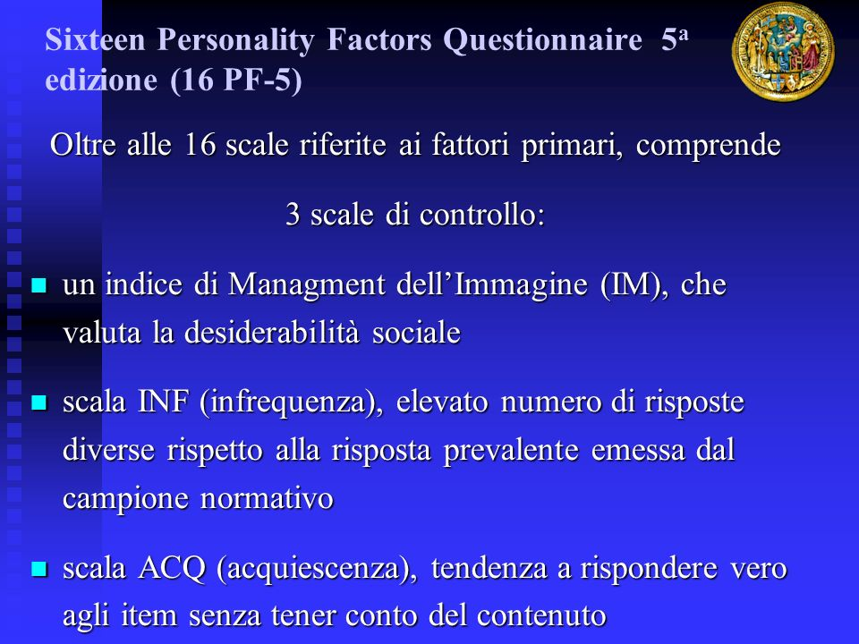 Sixteen Personality Factors Questionnaire 5a edizione (16 PF-5)‏