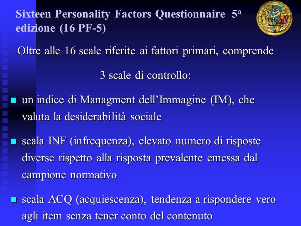 Sixteen Personality Factors Questionnaire 5a edizione (16 PF-5)