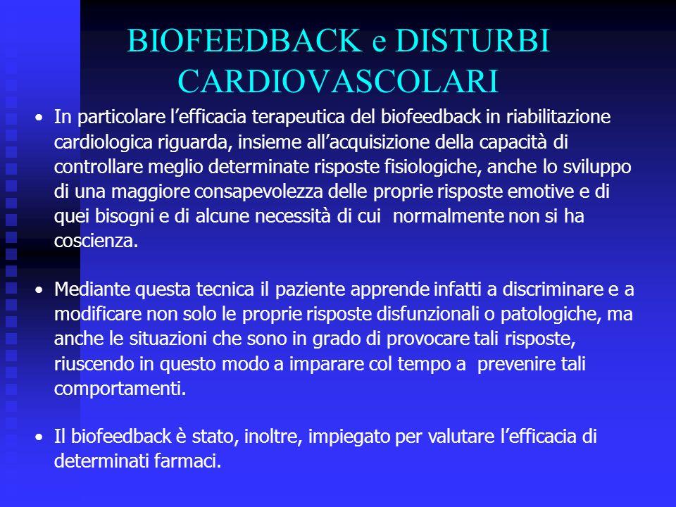BIOFEEDBACK e DISTURBI CARDIOVASCOLARI