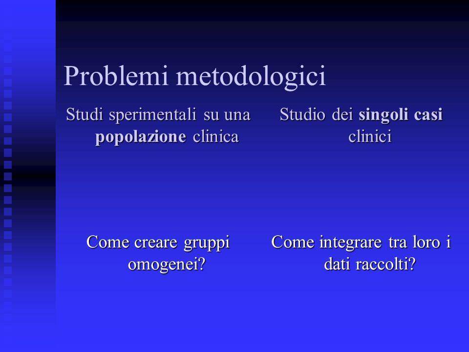 Problemi metodologici