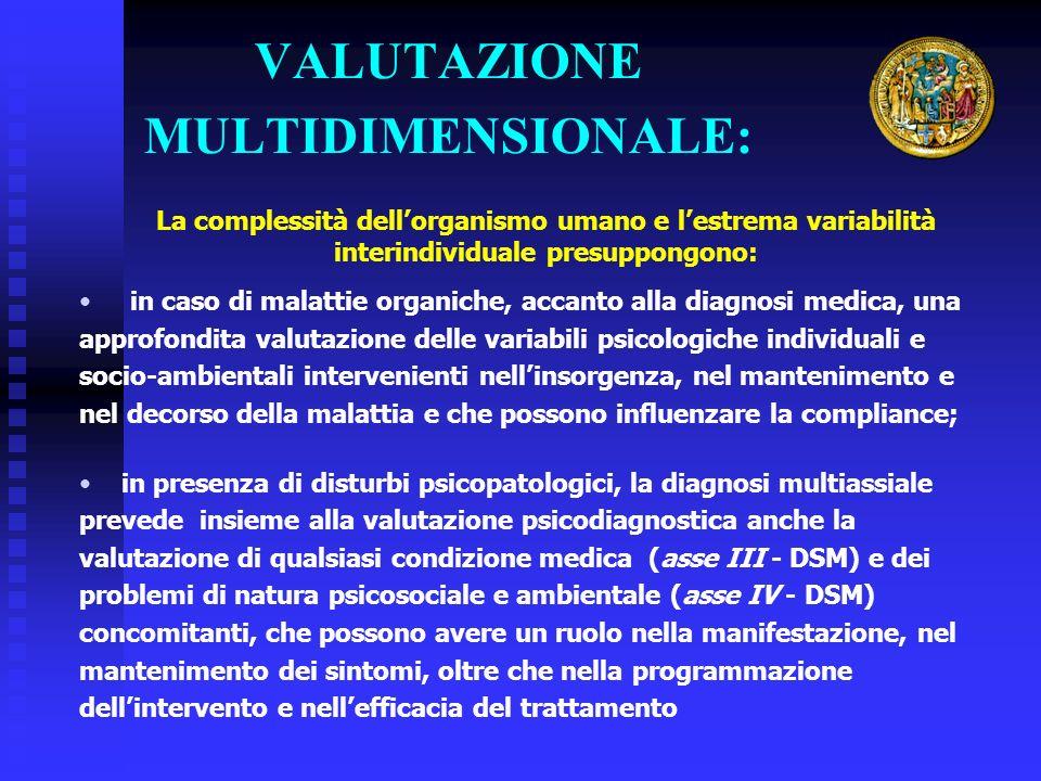 VALUTAZIONE MULTIDIMENSIONALE: