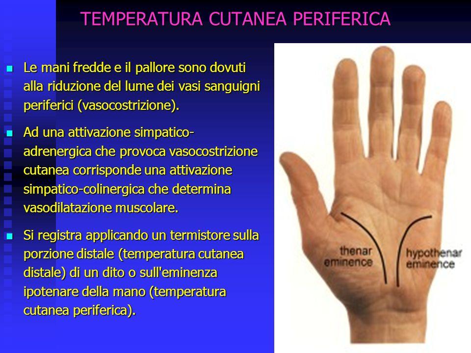 TEMPERATURA CUTANEA PERIFERICA