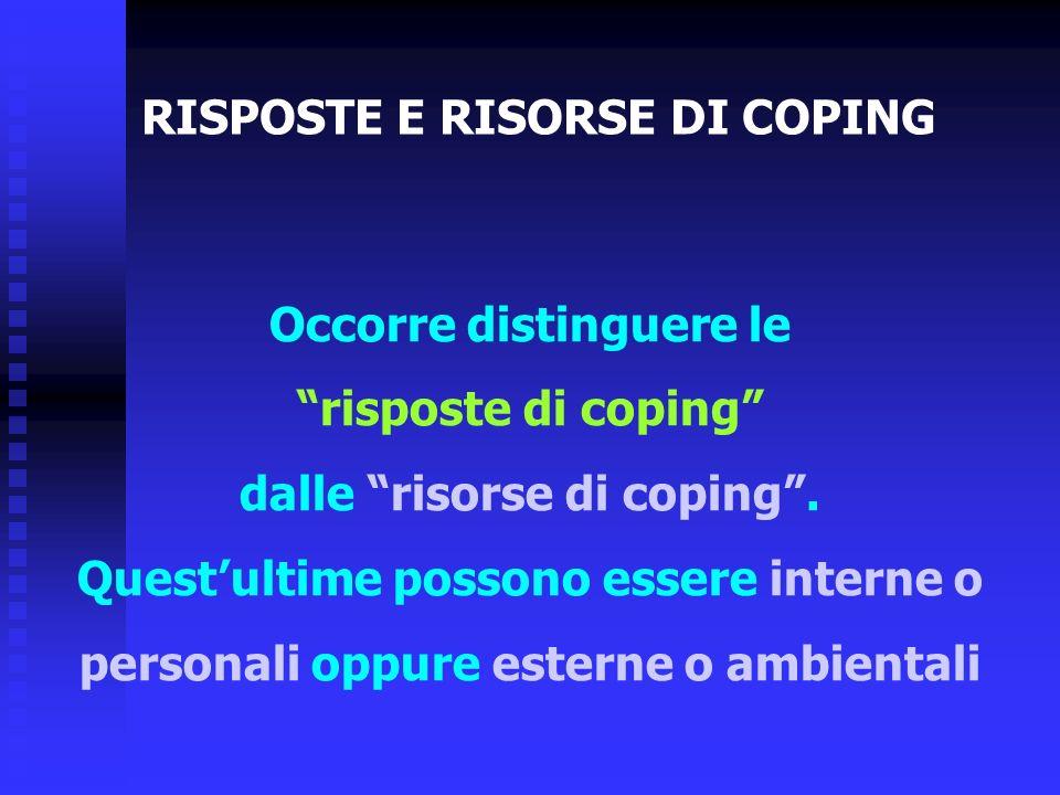 RISPOSTE E RISORSE DI COPING