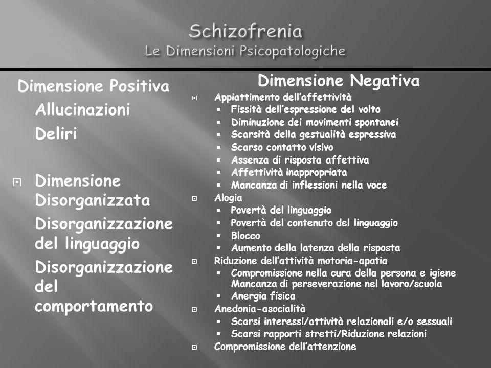 Schizofrenia Le Dimensioni Psicopatologiche
