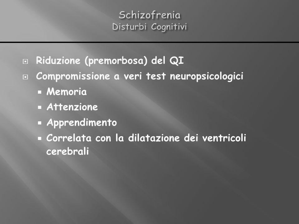 Schizofrenia Disturbi Cognitivi