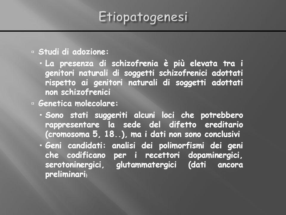 Etiopatogenesi Studi di adozione: