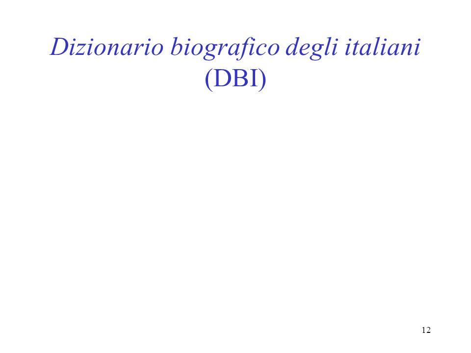 Dizionario biografico degli italiani (DBI)