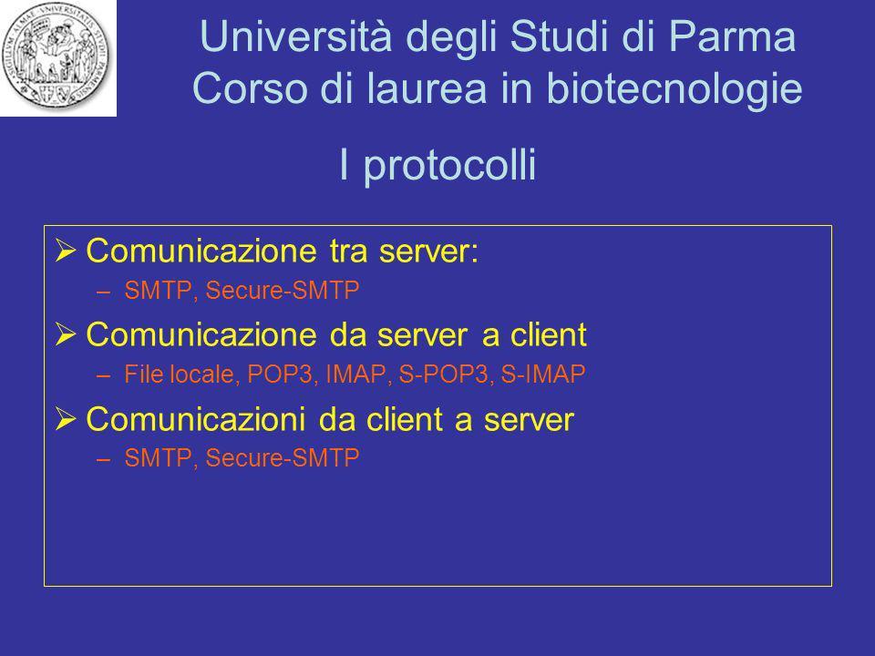 I protocolli Comunicazione tra server:
