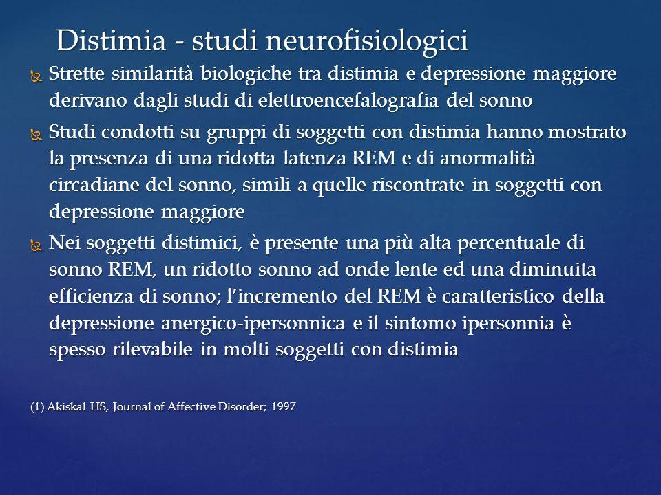 Distimia - studi neurofisiologici