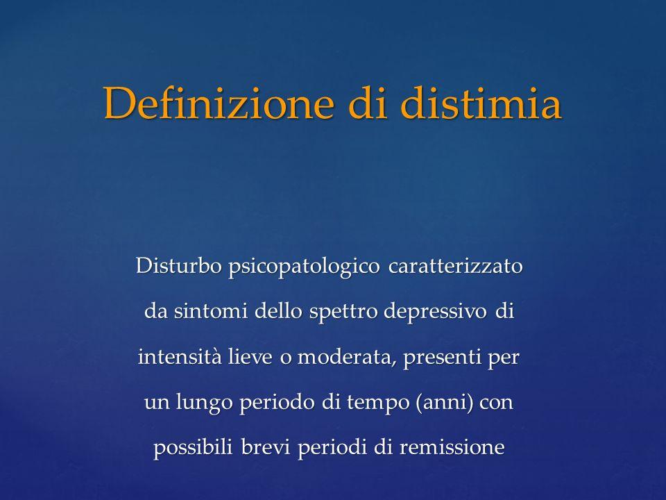Definizione di distimia
