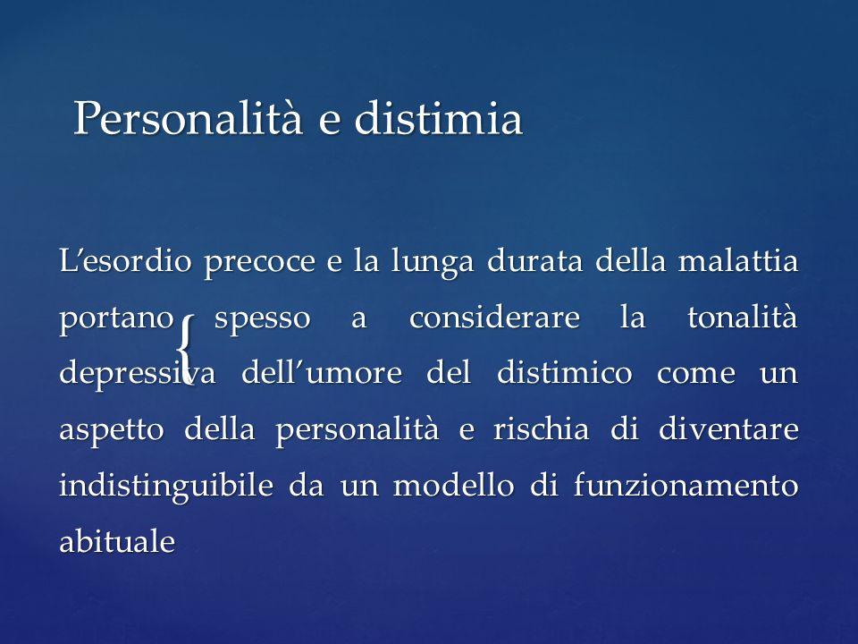 Personalità e distimia