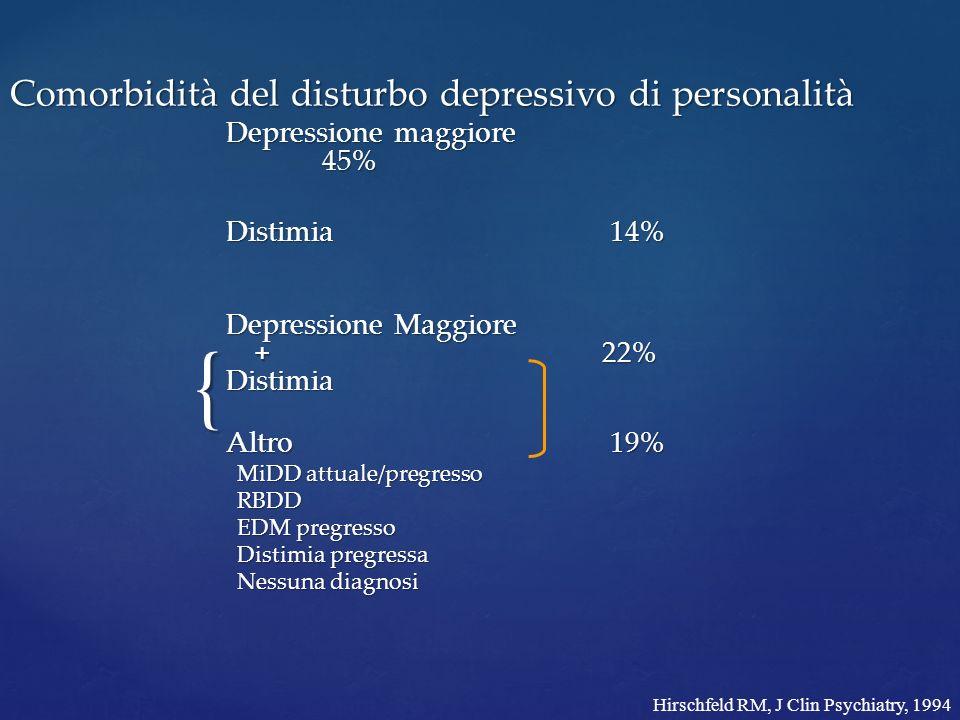 Comorbidità del disturbo depressivo di personalità